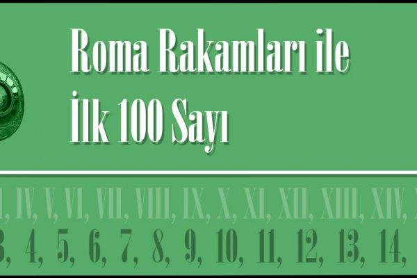 Roma Rakamları 100e Kadar