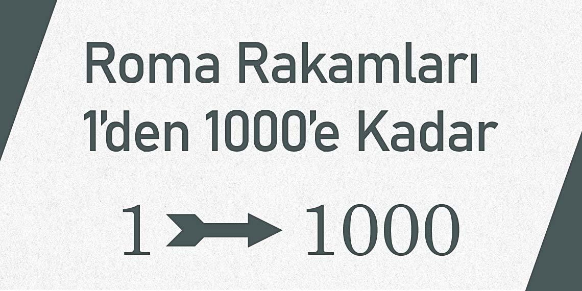 Romen Rakamları 1000'e Kadar
