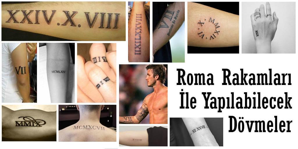 Roma Rakamları İle Yapılabilecek Dövmeler